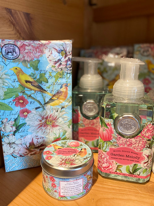 Foaming Soaps, Kitchen Towel, Candles, Michele Design Works