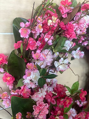 Pink & White Cherry Blossom Wreath