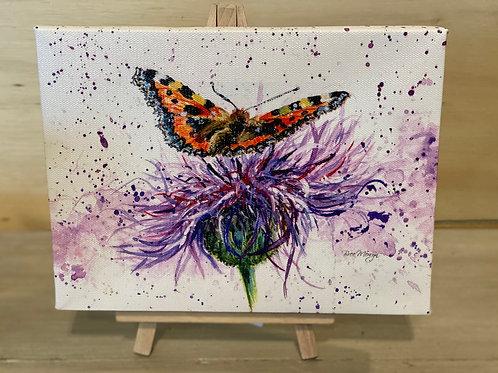 5 x 7 Mini Canvas Art & Wood Easel