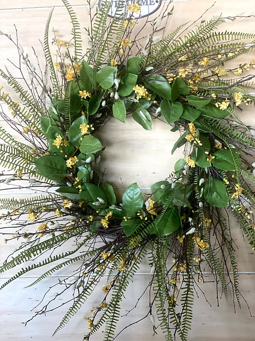 Yellow Birch Wreath
