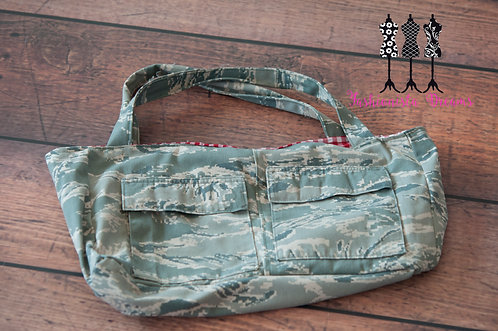 **MADE FROM YOUR UNIFORM THIS IS A SAMPLE ONLY** Air Force Large Tote