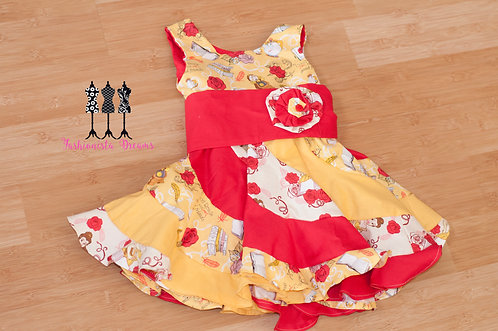 Belle themed Twirl Dress