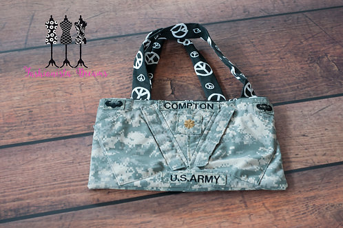 ** MADE FROM YOUR UNIFORM THIS IS A SAMPLE ONLY** Chest Pocket Army Envelope bag