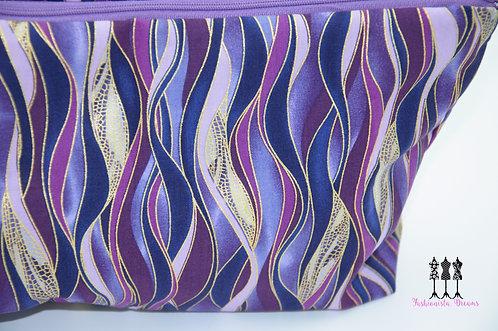 Shades Purple & Gold Stripes - Retreat Bag