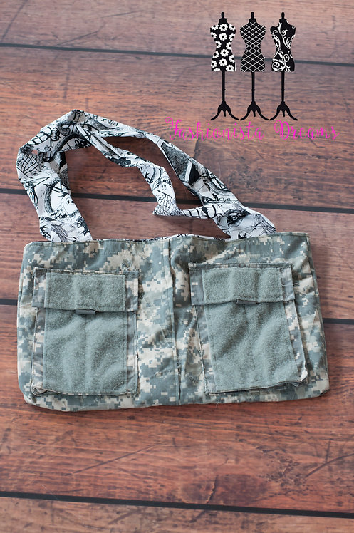 **MADE FROM YOUR UNIFORM THIS IS A SAMPLE ONLY** Arm Pocket Army Envelope bag