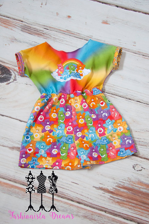 Care Bears romper with pockets