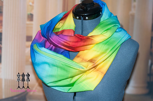 Rainbow Pocket Infinity Scarf