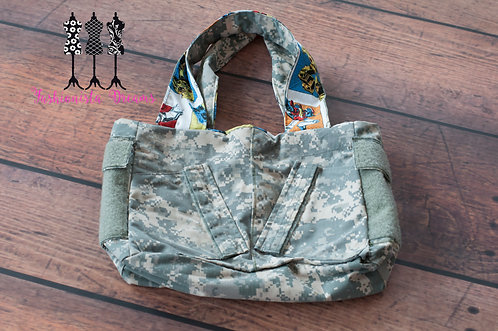 **MADE FROM YOUR UNIFORM THIS IS A SAMPLE ONLY** Large Army Tote w/side pockets