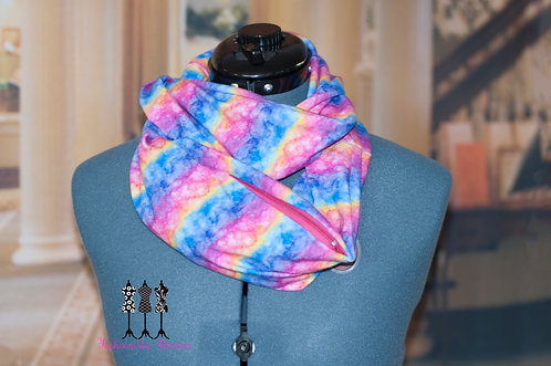 Watercolor Rainbow Pocket Infinity Scarf