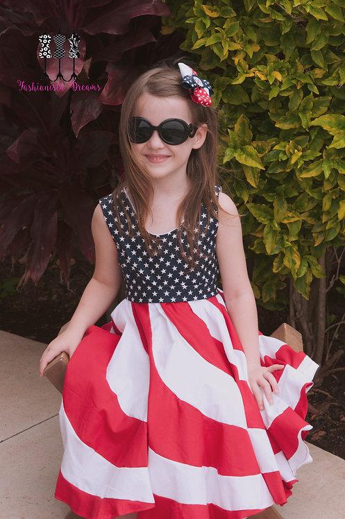 Stars and Stripes Twirl Dress