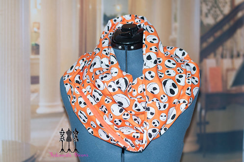 Jack from Nightmare Before Christmas Pocket Infinity Scarf