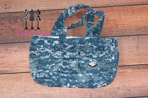 **MADE FROM YOUR UNIFORM THIS IS A SAMPLE ONLY** Large Navy Tote