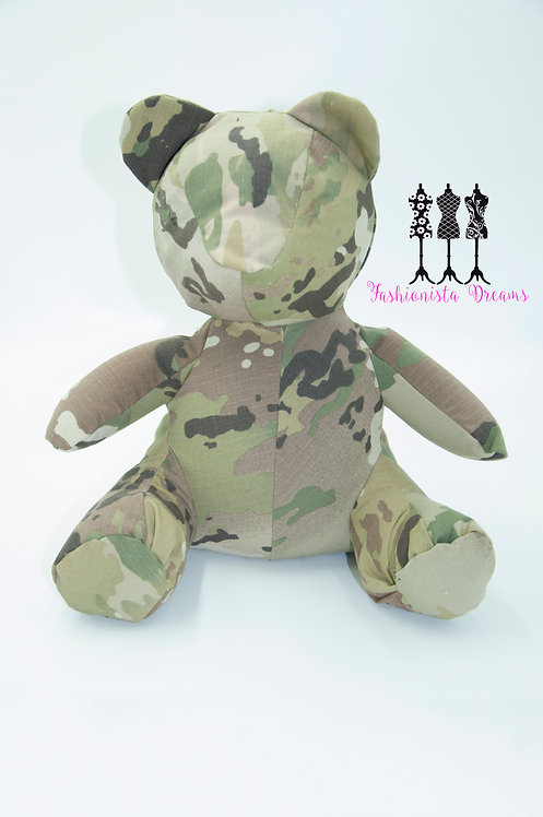 "12"" Military themed Bear"