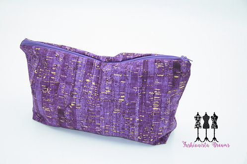 Purple & Gold Cork - Retreat Bag