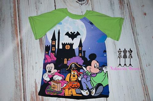 Mickey, Minnie, and Pluto Halloween