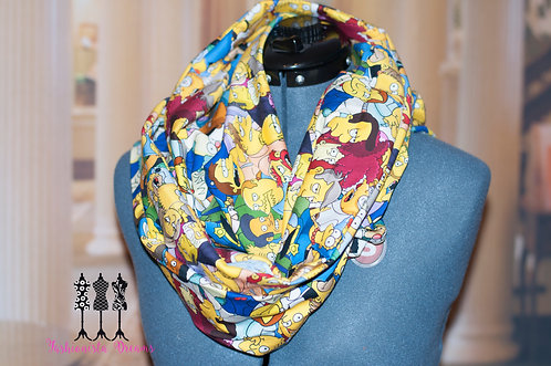 the Simpsons Pocket Infinity Scarf