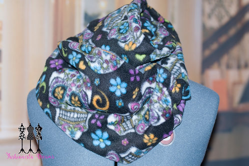 Sugar skulls Fleece Pocket Infinity Scarf