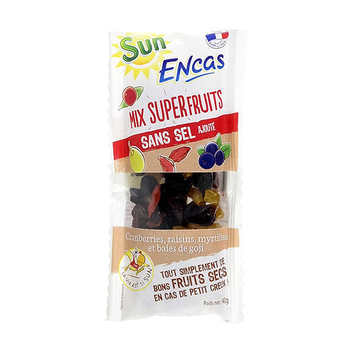 Mélange superfruit fruit sec Sun Encas sans sel 40gr