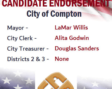 Concerned Citizens of Compton Announces Its Endorsements For April 20 Primary Ballot