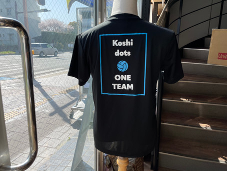 バレーボールチーム「Koshi dots」さま記念Tシャツ♪