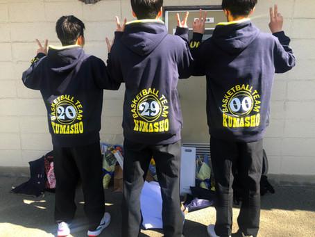 熊本商業高校 バスケ部さま卒業記念パーカー♪