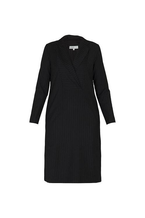 """Платье """"Collar"""" в полоску черное"""