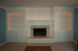 Custom Shelving and Fireplace