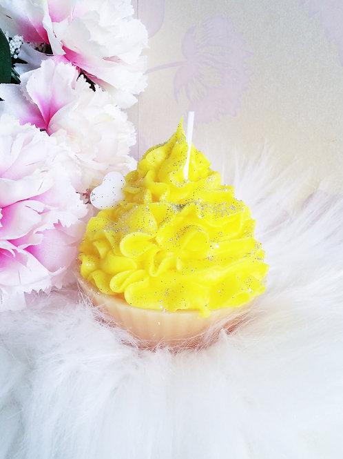Lemon Cupcake Candle