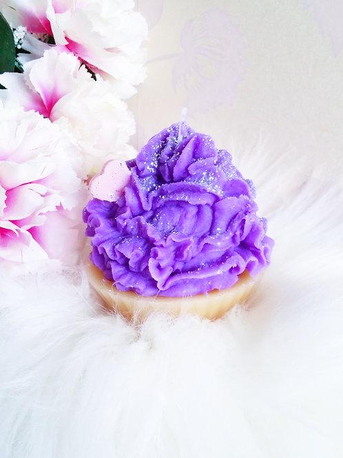 Parma Violet Cupcake Candle