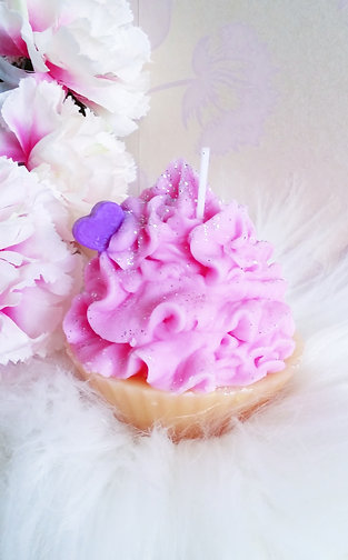 Strawberry Cupcake Candle