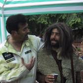 Bruce explains acting to Bob the Mountain Man