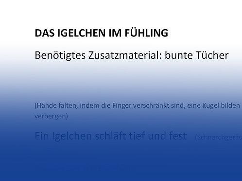 """Fingerspiel """"Das Igelchen im Frühling"""""""