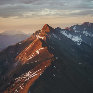 Sun Kissed Mountain Ridge