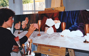 Val painting the Gift.jpg