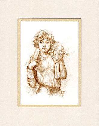 Shepherd Boy - matted print
