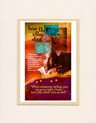 Martin Luther King, Jr. - matted print