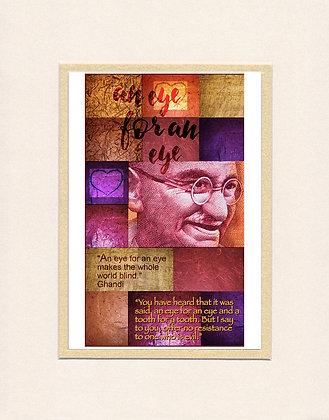 Ghandi -matted print
