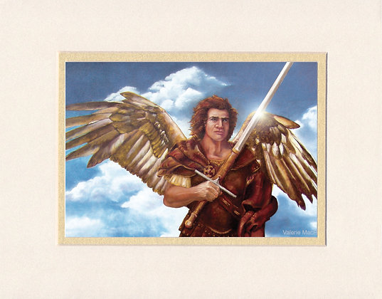 St. Michael - matted print