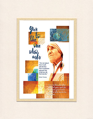Mother Theresa - matted print