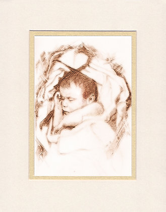 A Child is Born - matted print