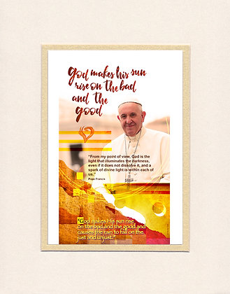Pope Francis -matted print