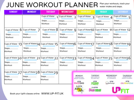 June Workout Planner
