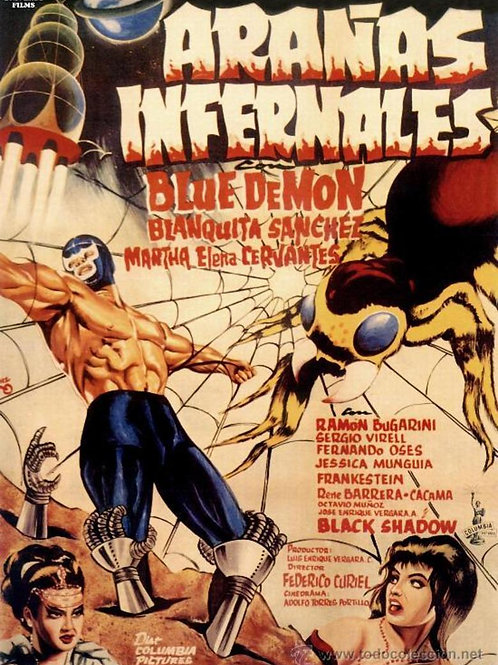 "Blue Demon: ""Hellish Spiders"" (1968) (Aranas Infernales)"