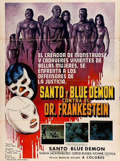 Santo & Blue Demon Vs. Dr. Frankenstein (1973) Lucha Libre Horror