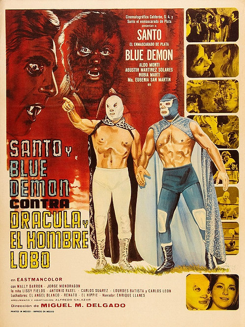 Santo and Blue Demon vs. Dracula and The Wolf Man (1973) Lucha-Horror