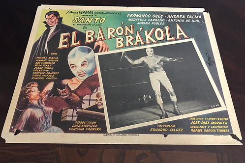 """El Barón Brákola"" (Santo Vs. Baron Brákola) 1965 Lobby Card"