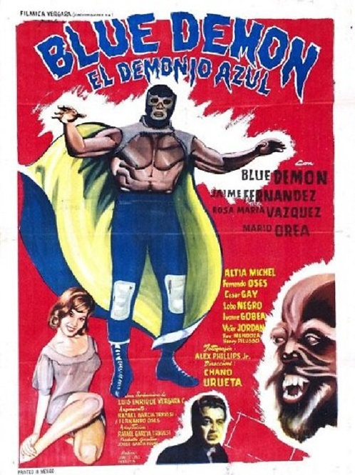 """Blue Demon"" (El Demonio Azul) 1965 Lucha Horror"
