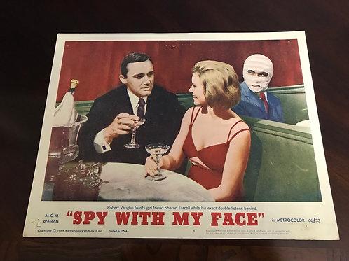 """""""Spy With My Face"""" (1966) Movie 11""""x14"""" 4-Lobby Card Set 1, 3, 4, 5,"""