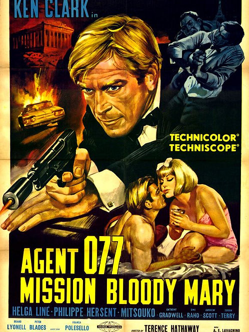 Agent 077: Mission Bloody Mary 1965 Ken Clark Eurospy