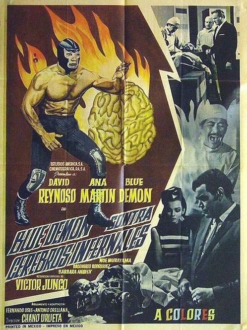 Blue Demon Vs. The Infernal Brains (Cerebros Infernales) (1968)